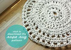 crochet rope rug pattern