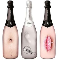 Sensual Bubbly Bottles...I want to drink them very slowly. I especially love the first one.  Sexy and delicious!