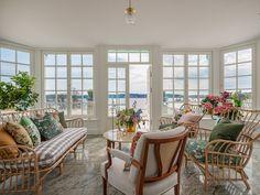 Villa Söderås, Söderåsvägen 1 - ESNY Villa, Outdoor Furniture Sets, Outdoor Decor, Rattan, Porch, Windows, Inspiration, Home Decor, Pictures