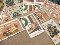 Verde Studio - Vintage Christmas Postage Stamps