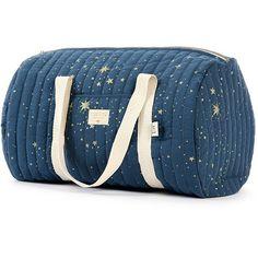 Nobodinoz NY weekendtas - luiertas - Elements - Gold Stella-Night Blue  #fashion #birthlist #littlethingz #nobodinoz