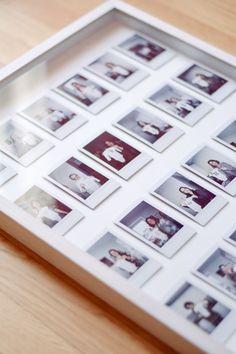 diy instax photo gallery frame - One Brass Fox - One Brass Fox // Powered by chloédigital Polaroid Pictures Display, Polaroid Picture Frame, Polaroid Display, Photo Polaroid, Polaroid Frame, Frame Display, Picture Frames, Polaroids, Photo Frame Ideas
