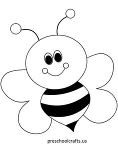 arı boyama sayfaları Arı boyama sayfası, Bee coloring page, Dibujo de abeja, Раскрашивание. Art Drawings For Kids, Drawing For Kids, Easy Drawings, Bee Drawing, Bee Crafts, Preschool Crafts, Preschool Printables, Free Preschool, Preschool Ideas