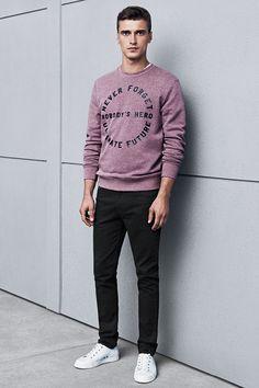 Printed text sweatshirt. #HMMEN
