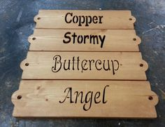 Horse Stall Name Signs