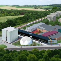 """New """"C-City"""" museum district breaks ground in The Netherlands   The new C-City in Kerkrade will combine technology, science, and design in one connected museum district. Image courtesy of Shift Architecture Urbanism   Archinect"""
