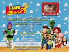 Carte Invitations Toystory Buzz Woody Anniversaire Cartes D