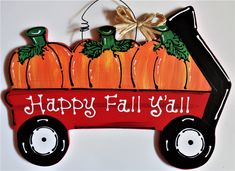 Your place to buy and sell all things handmade Fall Door Hangers, Wooden Door Hangers, Wall Hanger, Happy Fall Yall Pumpkin, Happy Fall Y'all, Country Wood Crafts, Wooden Crafts, Halloween Signs, Halloween Door