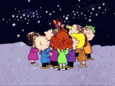 Peanuts Gang Decorating A Christmas Tree charlie brown christmas christmas gifs snoopy christmas gif