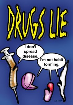 Drug Prevention poster, great for red ribbon week, drugs lie Red Ribbon Week, Drug Free, Counseling, Drugs, Addiction, Medicine, Activities, Creative, Poster