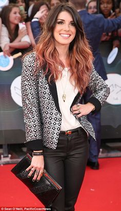 Former 90210 star Shenae Grimes took home etalk's MMVAs Style Award at the 2014 MuchMusic Video Awards wearing black leather pants, a white top and a black and silver blazer http://dailym.ai/1kY0wu2