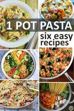 Make dinner in 15 min flat!!!   Six One-Pot Pasta Recipes - Kids Activities Blog