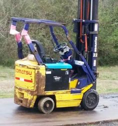 Nothing a little tape can't fix #forklift #safetyfail