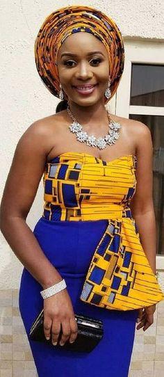 Sunday fashion church in Nigeria, African fashion, Ankara, kitenge, african women of . African Dresses For Women, African Print Dresses, African Attire, African Wear, African Women, African Prints, African Outfits, African Clothes, African Fashion Ankara
