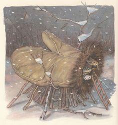 Ukrainian fairy tale, Moscow: Detgiz, illustrated by Evgenii Rachev Russian Folk Art, Children's Book Illustration, Book Illustrations, Book Images, Vintage Images, Polar Bear, Childrens Books, Illustrators, Art For Kids