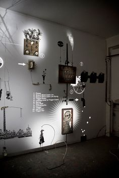 A Magical Installation Combines Rube Goldberg With Shadow Puppets. This may be too ballsy for the showcase but I would love to incorporate little elements like this. Museum Exhibition Design, Exhibition Display, Exhibition Space, Design Museum, Exhibition Stands, Interactive Exhibition, Interactive Installation, Interactive Design, Installation Art