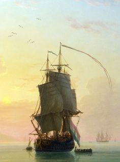 Ships & Seas...   slojnotak: Claude-Joseph Vernet - A Calm at a...