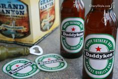Personalize Dad's brew with this beer label printable - CherylStyle