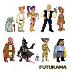 Star Wars/ Futurama  mash up...Illustration by Dave Au