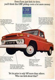 1965 #GMC Truck Ad #JerrySeinerBuickGMCSouthJordan 1-877-356-4685 www.jerryseinersouthjordan.com