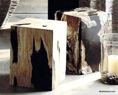 Roost Petrified Wood Block Stools – Modish Store