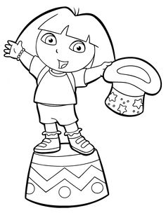dora carnival coloring pages - photo#9