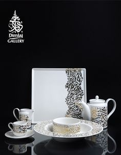 Dimlaj Gallery offer stunning and romantic #tableware inscribed with Arabic calligraphy
