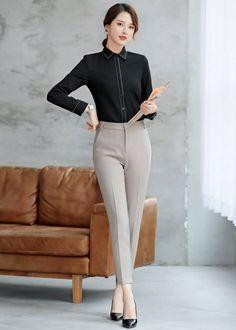 Damas Mujeres/'s Workwear Oficina desgaste corporativa Cuello en V Suéter Pulóver