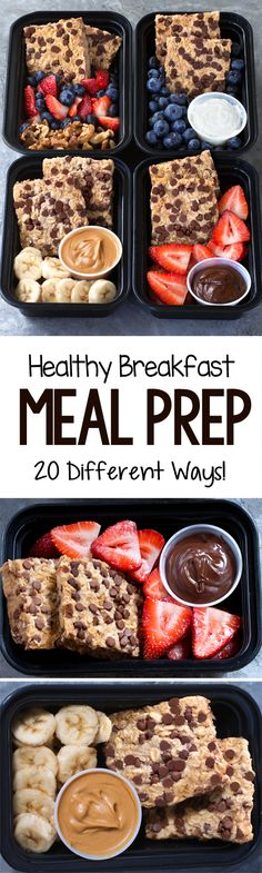 20 Super Healthy Breakfast Meal Prep Ideas - Easy Recipes - My list of simple and healthy recipes Easy Baking Recipes, Healthy Recipes, Clean Eating Recipes, Healthy Snacks, Cooking Recipes, Keto Recipes, Fruit Recipes, Healthy Eating, Healthy Breakfast Meal Prep