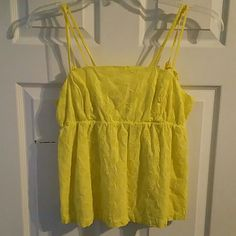 ANTHROPOLOGY YELLOW TENNIS RAQUET TANK TOP NWT!! SUPER CUTE ANTHROPOLOGY POSTMARK TENNIS RAQUET, YELLOW, DOUBLE SPAGHETTI STRAP ADJUSTABLE, LINED TANK TOP, NWT!!  SIZE 6 US  NWT! New With Tag! From a Local Boutique.  100% COTTON, LINING~ 100% COTTON   No Smoking, Buy It Now, Ask Questions, Posh Only, Make A Reasonable Offer, NO TRADES! Anthropologie Tops Tank Tops
