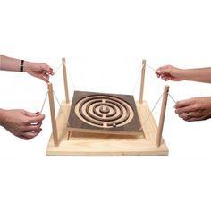 Labyrinthe géant en bois à 4 mains