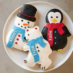 Giant Winter Cookies, Set of 3