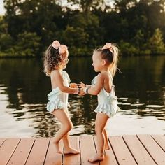 """Tutu Du Monde on Instagram: """"☀️ Fun in the Sun ☀️  How adorable are these two in our Bermuda One Piece Swimsuit!  📸 @mhandylou   Click to shop our swimwear, online…"""" Summer Memories, Dress Sandals, Swimsuits, Swimwear, One Piece Swimsuit, Tutu, White Dress, Flower Girl Dresses, Wedding Dresses"""