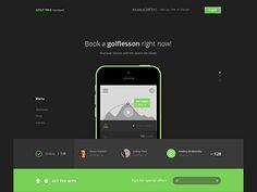 Web app home page design Womens Golf Wear, Mathematics Games, Cheap Golf Clubs, Beautiful Website Design, Golf Cart Parts, Golf Gps Watch, Golf Apps, Golf Pride Grips, App Home