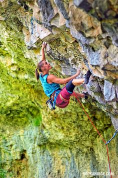 jenn Vennon on Dumpster Barbeque a very hard 5.13c at Rifle, Colorado.