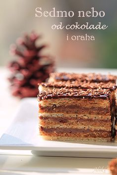 Mamina jela: Sedmo nebo od čokolade i oraha Bosnian Recipes, Croatian Recipes, Cake Cookies, Cupcake Cakes, Cupcakes, Sweets Recipes, Cake Recipes, Yummy Treats, Delicious Desserts