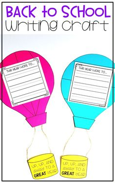 Are you ready for back to school activities?! This hot air balloon writing craft is perfect for students to set their growth mindset as the new year begins! Snag this back to school writing activity and you are sure to have a great year!