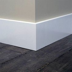 Flat Baseboard Modern Ideas With Dark Hardwood Floors