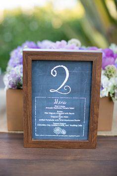 menu table number | Orbie Pullen Photography