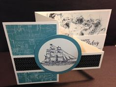 My Creative Corner!: The Open Seas Banded Birthday Card Z Fold Technique