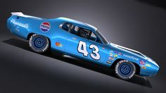 Richard Petty 1971 3D Nascar Autos, Nascar Race Cars, Old Race Cars, Us Cars, Car Tattoos, Racing Tattoos, Plymouth Muscle Cars, Dodge Charger Daytona, Richard Petty