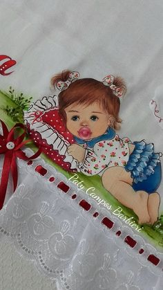 Fabric Painting, Painting & Drawing, One Stroke Painting, Ribbon Embroidery, Machine Embroidery, Embroidery Stitches, Brother Innovis, Nursery Paintings, Baby Shower Cookies