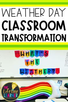 Check out this fun weather classroom transformation theme for elementary students in first, second, third, fourth, fifth grade. This meteorologist room transformation will set the stage to engage and is stress-free! It's a worksheet or escape room alternative, and can be used in small groups or partners. 1st, 2nd, 3rd, 4th, 5th graders enjoy classroom transformation ideas. Digital and printables for kids (Year 1,2,3,4,5) #setthestagetoengage #classroomtransformation #mathactivities