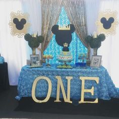 baby shower decorations boy prince - Black and Gold Royal Prince Baby Shower Games ? are several theme directions a boy baby shower celebration d Mickey Mouse Birthday Theme, Mickey 1st Birthdays, Cinderella Birthday, Mickey Mouse Parties, Mickey Party, Minnie Mouse, Prince Birthday, Baby Boy 1st Birthday, Boy Birthday Parties