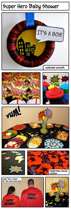 super hero baby shower - this is really well done!