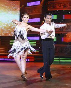"""Diễn viên Huỳnh Đông và bạn nhảy Rusina Stefanova được giám khảo Quang Dũng cho điểm 9 vì đã """"lột tả được cảm xúc trong điệu nhảy"""""""