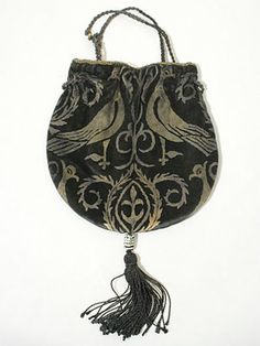 Gallenga Stenciled Velvet Bag, 1920's. I'd gladly bring it back as alternative to the clutch.