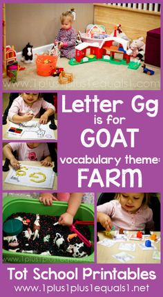 Tot School Printables Letter G is for Goat ~ a free program for toddlers from @{1plus1plus1} Carisa #totschool