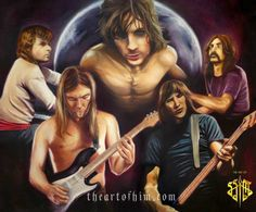 Pink Floyd: The Art Side of the Moon - Arte Pink Floyd, Pink Floyd Band, Rock Posters, Band Posters, Music Posters, Pink Floyd Artwork, Musica Punk, Atom Heart Mother, Sick Boy