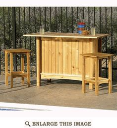 Bar and Stools Woodworking Plan, Outdoor Furniture Project Plan | WOOD Store 7.95 download 10.95 by USPS - fun for the deck...